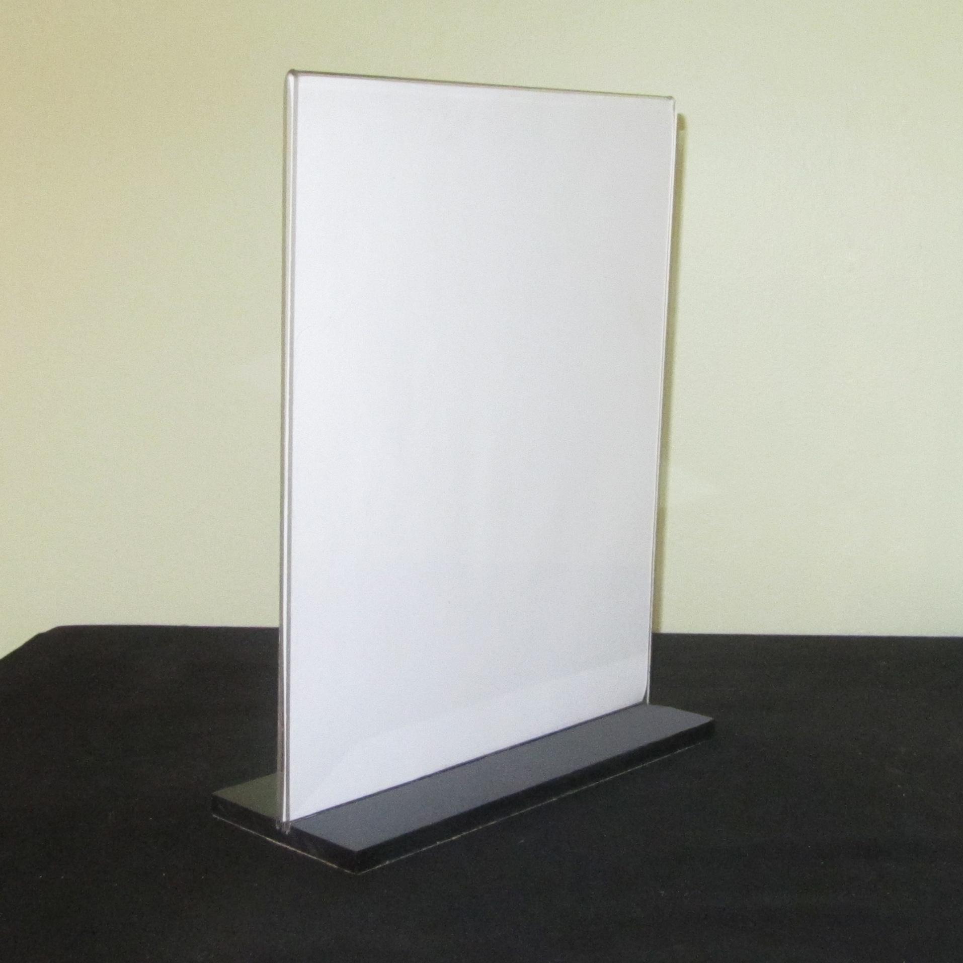 plexi frames, acrylic t base sigh holder, literature display, phot ...